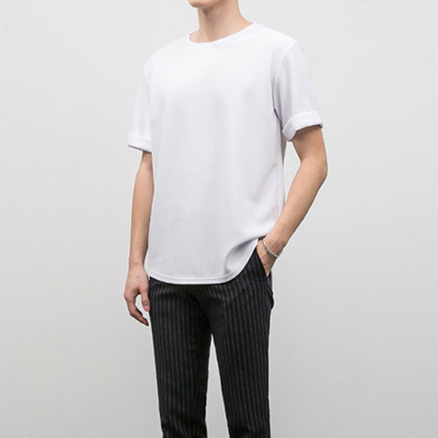 [BE1244]Horizonatal half Tee( 5 color Free size )