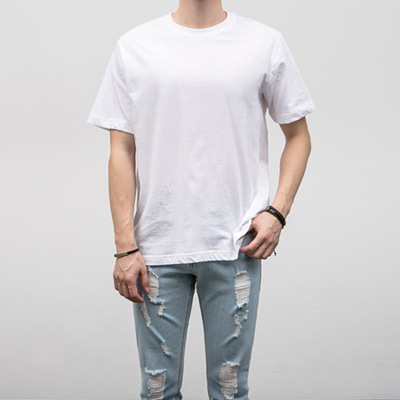 [BJ0275]1+1Basic Half Tee( 3 color M/L/XL size )