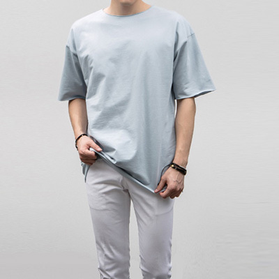 [BJ0278] Lip-neck Half Tee( 4 color Free size )