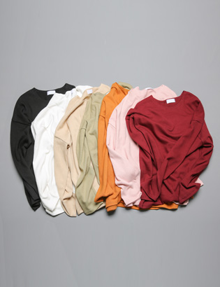 [BS0733]Roll Pocket Knit( 7 color Free size )