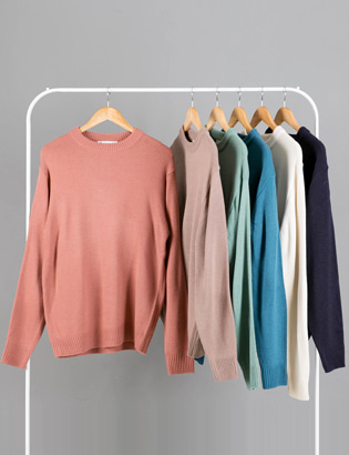 [BS2798]Basic Color Knit( 6 color Free size )