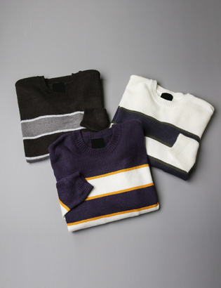 [BT1131]Color-Block Knit( 3 color Free size )