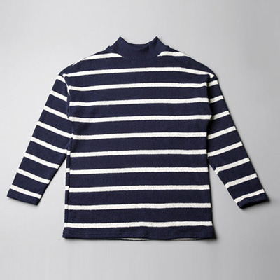 [BT2706]Stripe Half-neck T( 5 color Free size )