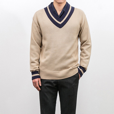[BX1512]Magan V Knit( 3 color Free size )