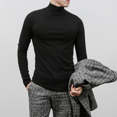 [BX1080]Simple Turtleneck( 8 color Free size )