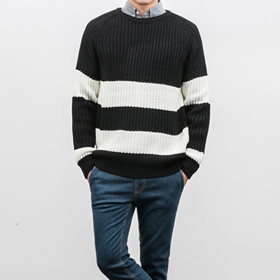 [BX2440]King Stripe Knit( 2 color Free size )