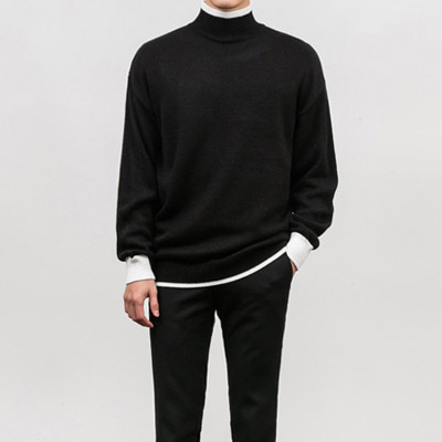 [BY0966]Modern Half-neck Knit( 3 color Free size )
