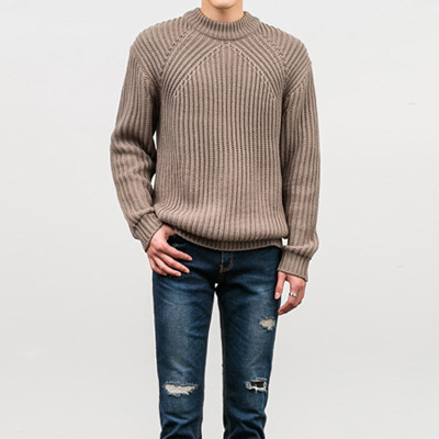 [BY0960]Simon V Knit( 5 color Free size )