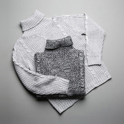 [BY2214]Bokashi Fisher Knit( 2 color M/L size )