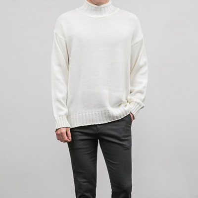 [BY2848]Cut Turtle-neck Knit( 4 color Free size )