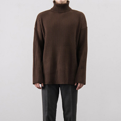 [BX0108]Vertical Loose Pola Knit( 4 color Free size )