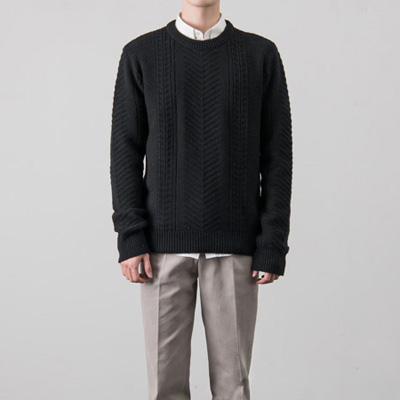 [BX0828]Shark Pattern Knit( 4 color M/L size )
