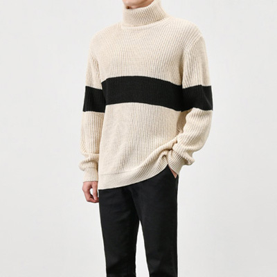 [BX1562]Over Big Line Knit( 2 color Free size )