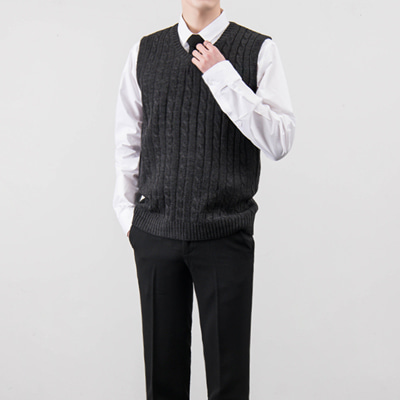 [BA1609]Twisted V Vest( 13 color M/L size )